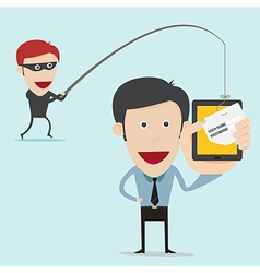 Business concept of internet scam with phising vector