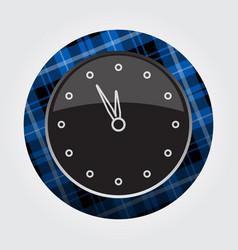 button blue black tartan - last minute clock icon vector image vector image
