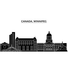 canada winnipeg architecture city skyline vector image vector image