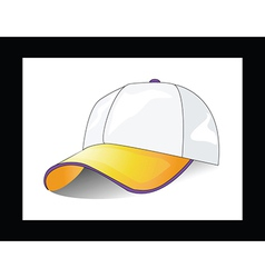 Cap on white background vector image