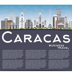 Caracas skyline with gray buildings vector