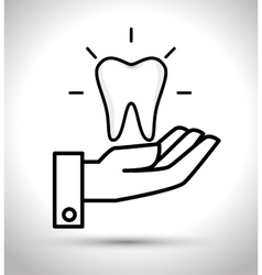 Care tooth odontology service vector