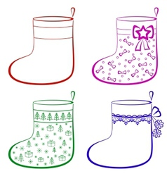 Christmas stockings set vector