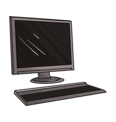 Computer icon in cartoon style isolated on white vector image