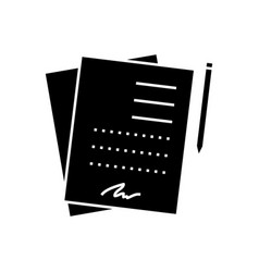 contract signing documents icon vector image