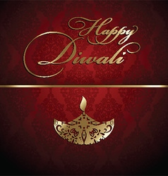 Decorative diwali background 2609 vector