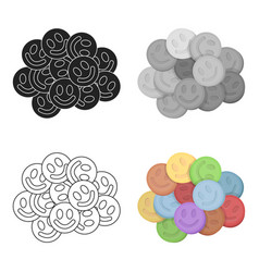 Ecstasy icon in cartoon style isolated on white vector