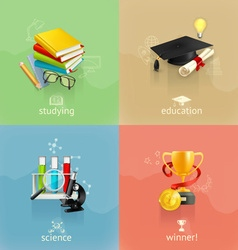 Education concepts set vector image