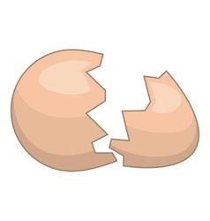 Eggshell icon cartoon style vector