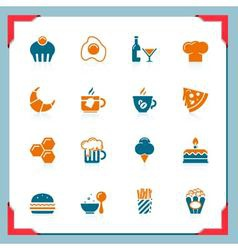 food icons 2 - in a frame series vector image vector image