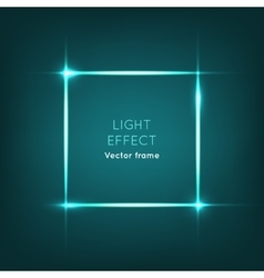 Frame light effect on dark blue background vector