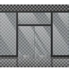 Glass store facade vector image