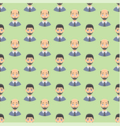 hair loss stages man seamless pattern and types of vector image