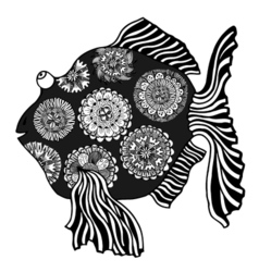 Hand drawn fish vector image vector image