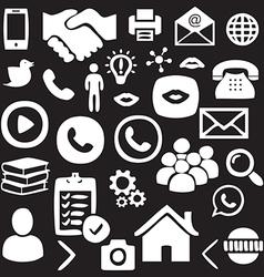Hand drawn social network icon set vector
