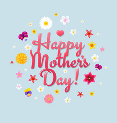 Happy mothers day postcard vector