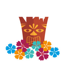 hawaii totem culture icon vector image
