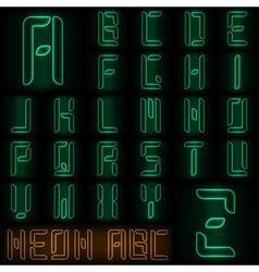 Neon ABC vector image vector image