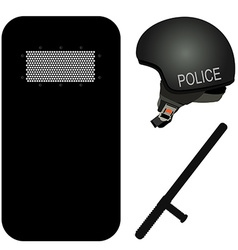 Police icon sey vector