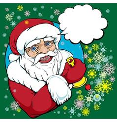 pop art santa vector image vector image