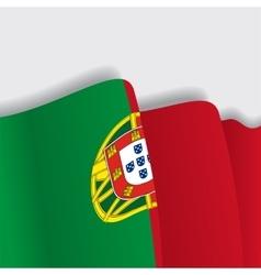 Portuguese waving flag vector