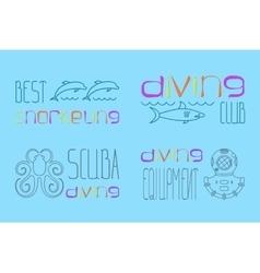 Set of logo scuba diving vector