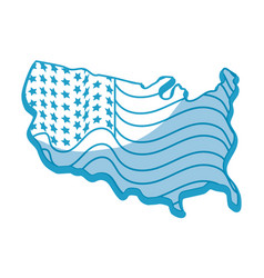 silhouette map with flag inside to celebrate vector image vector image