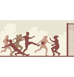 Soccer women vector
