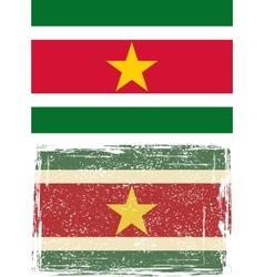 Suriname grunge flag vector