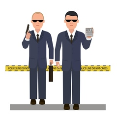 Two security agents vector image