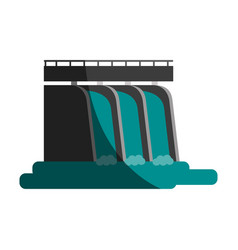 Waterfall cartoon flat shadow vector