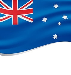 Waving flag of Australia isolated on white vector image vector image