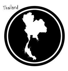 white map of thailand on black vector image