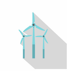 Windmill icon flat style vector