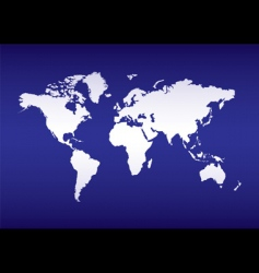 world map blue ocean vector image vector image