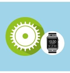 Smart watch on hand- progress gear vector