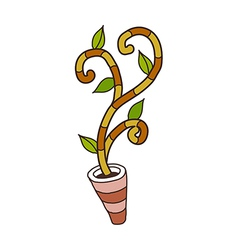 A flower pot is placed vector