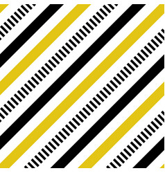 Yellow and black diagonal lines seamless vector
