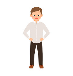 Boy in a classic clothes vector