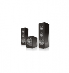 Surround speaker with subwoofer vector