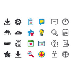 Download now signs upload from cloud icon vector