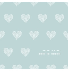 White lace hearts textile texture frame corner vector