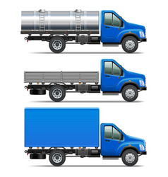 Lorry icons set 2 vector