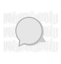 Speech gray bubble for your text vector