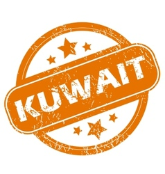 Kuwait grunge icon vector