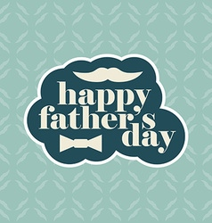 Greeting card for fathers day with pattern vector