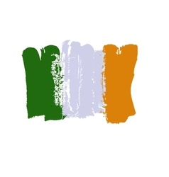 Ireland lag painted by brush hand paints art flag vector