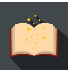 Magic book of spells open flat vector