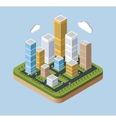 Skyscrapers and buildings vector