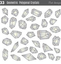 Geometric polygonal crystals vector